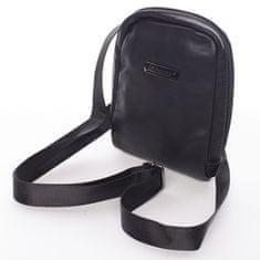 Bellugio Mesnší taška z kůže pro muže Wilmar, černá
