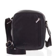 Wild Pánská kožená taška přes rameno Baron, černá