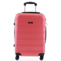 Agrado Kvalitní kufr skořepina Agrado, vel.II, 4. kolečka, růžový