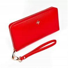 Lorenti Dámská světle červená peněženka na zip