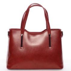 Delami Vera Pelle Dámska kožená kabelka Abi, červená