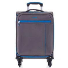 ORMI Kvalitní látkový kufr na kolečkách 4.kolečka, velikost II, šedý