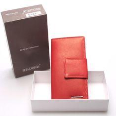 Bellugio Dámská kožená peněženka Ester červená