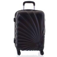 ORMI Originální skořepinový kufr ORMI, 4. kolečka, velikost I, černý