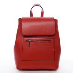 Delami Vera Pelle Dámský kožený batůžek Mandy, červená