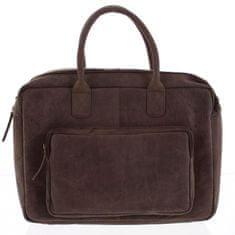 Always Wild Pánská kožená cestovní taška Biagio hnědá