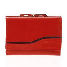 Bellugio Dámská kožená peněženka Nataša červená