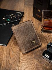 Buffalo Wild Exkluzivní pánská kožená peněženka Brad, světle hnědá