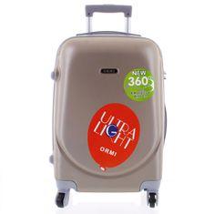ORMI Stylový pevný kufr 4. kolečka, velikost I, šampaň