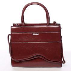 Silvia Rosa Trendy dámska kabelka cez plece Erica, červená
