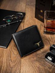 Buffalo Wild Pánská kvalitní kožená peněženka Glen, černá