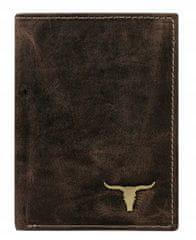 Buffalo Wild Praktická kožená pánská peněženka na výšku Ben, hnědá