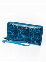 Lorenti Kožená elegantní peněženka na zip, modrá