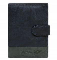Always Wild Kožená elegantní pánská peněženka AW, modrá