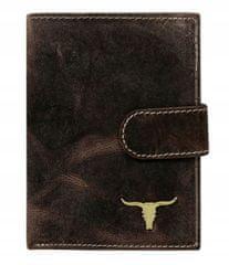 Buffalo Wild Hnědá kožená pánská peněženka s klopou Ted