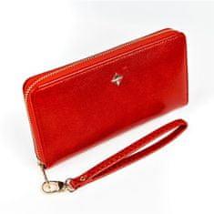 Lorenti Dámská červená peněženka na zip