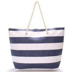 Bellugio Módní plážová taška Nicole, modrá