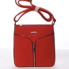 Silvia Rosa Minimalistická dámská crossbody Monika červená