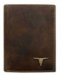 Buffalo Wild Praktická kožená pánská peněženka na výšku Ben, světle hnědá