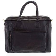 Always Wild Pánská kožená cestovní taška Biagio černá