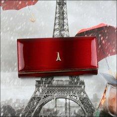 Lorenti Dámská kožená lakovaná peněženka Lumière X, červená