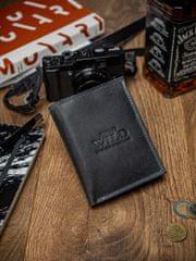 Always Wild Exkluzivní pánská kožená peněženka Nate, černá
