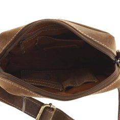 Always Wild Kožená pánská taška přes rameno Jacinto, světle hnědá