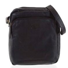 Always Wild Pánská kožená taška se zipy Faustino černá