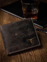 Buffalo Wild Pánská kožená peněženka na šířku Dan, přírodní hnědá