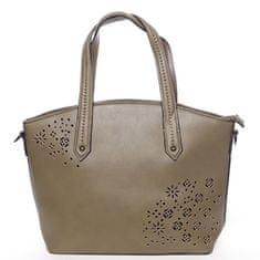 Dudlin Elegantní módní kabelka Alma, zelená