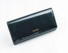 Rovicky Dámská lesklá peněženka z kůže Donatella černá