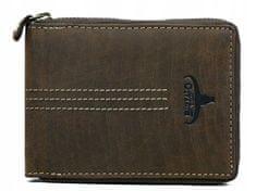Buffalo Wild Pánská kožená peněženka na zip Roland, hnědá