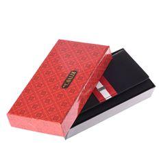 Cavaldi Moderní kožená dámská peněženka Rubí, černá