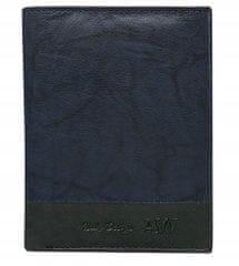 Always Wild Prošívaná pánská kožená peněženka Bruno, modrá