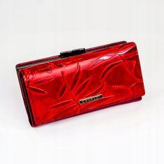 Cavaldi Originální kožená peněženka Clara, červená