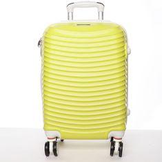 ORMI Stylový cestovní ORMI kufr 4 kolečka, vel. I, žlutý