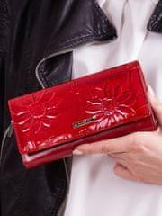Cavaldi Exkluzivní delší kožená peněženka Zavia, červená