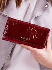Cavaldi Exkluzivní delší kožená peněženka Zavia, tmavě červená
