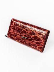 Lorenti Prostorná červená peněženka z kůže Tora