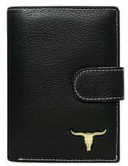 Buffalo Wild Pánská kožená peněženka na patent, černá