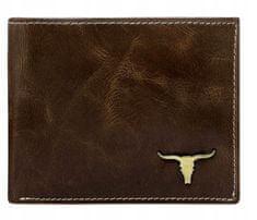 Buffalo Wild Kožená pánská peněženka na šířku Kevin, hnědá