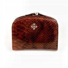 MILANO DESIGN Luxusní dámská peněženka Evelyn, lesklá hnědá