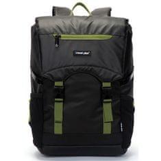 Travel plus Víceúčelový Travel plus batoh, černo-zelený