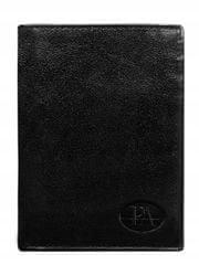 Pierre Andreus Pánská kožená peněženka na výšku Pierre, černá bez přezky