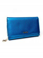 Rovicky Dámská moderní peněženka z přírodní kůže Camela, modrá