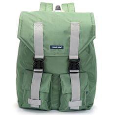 Travel plus Velký prodyšný multifunkční batoh Travel plus, zelený