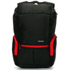 Travel plus Originální cestovní a školní batoh Travel plus, černo-červený