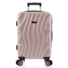 ORMI Moderní kufr růžově zlatý, 4 kolečka, velikost III