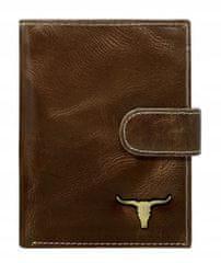 Buffalo Wild Pánská kožená peněženka Irvin, hnědá
