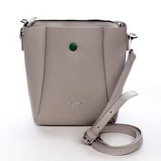 David Jones Designová koženková kabelka Dina krémová